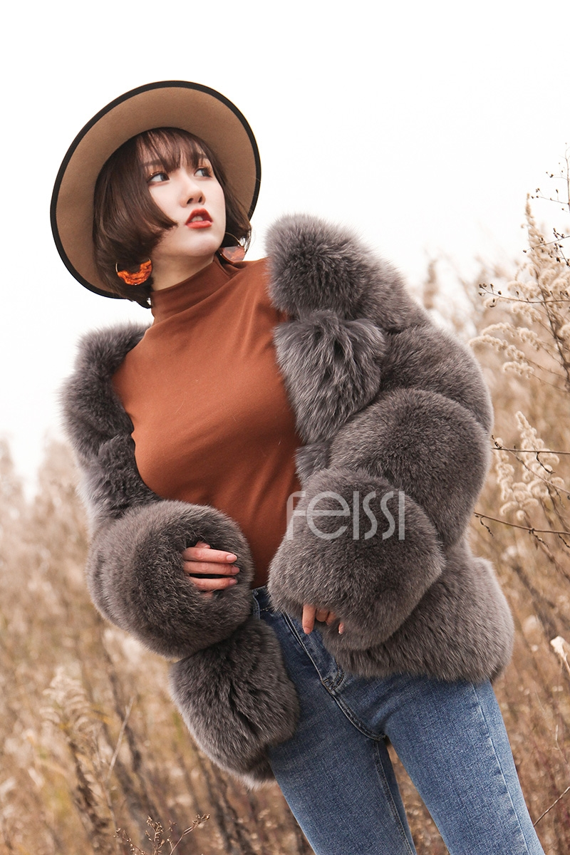 Fox Fur Coat 883b Details 12