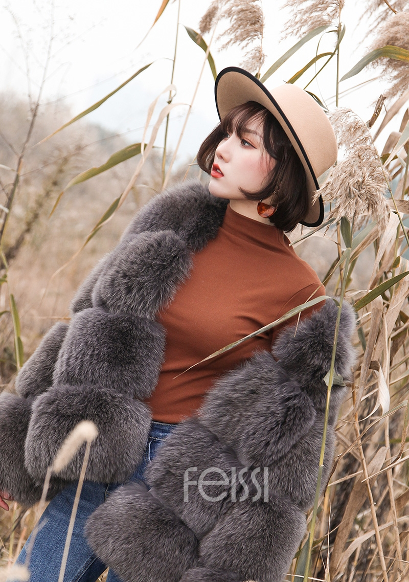 Fox Fur Coat 883b Details 14