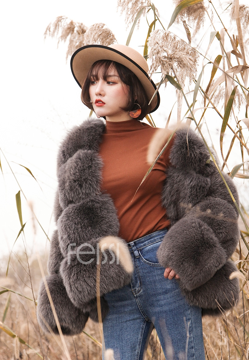Fox Fur Coat 883b Details 15