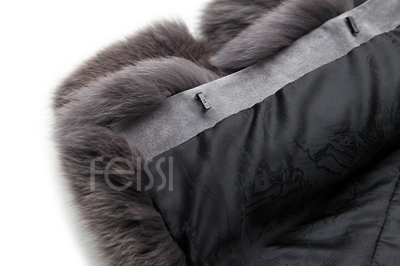 Fox Fur Coat 883b Details 25