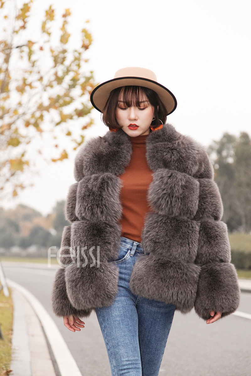 Fox Fur Coat 883b Details 5
