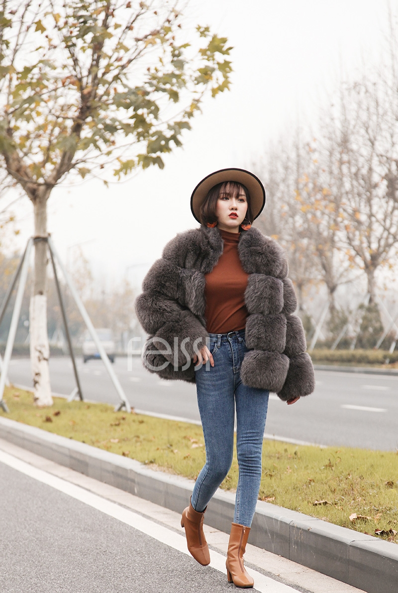 Fox Fur Coat 883b Details 6