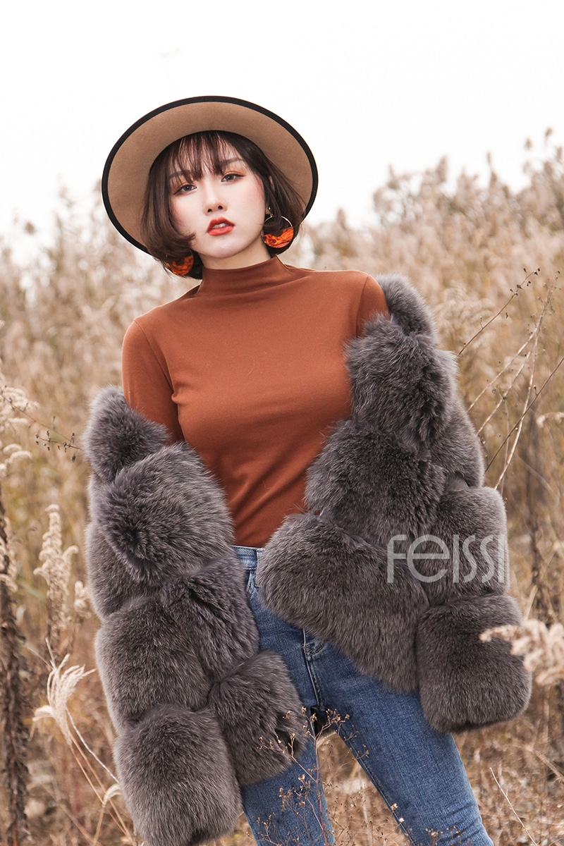 Fox Fur Coat 883b Details 7