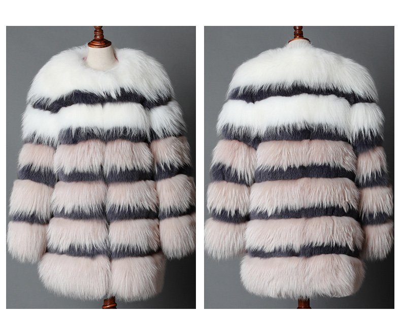3-4 Length Fox Fur Coat 920 Details 1