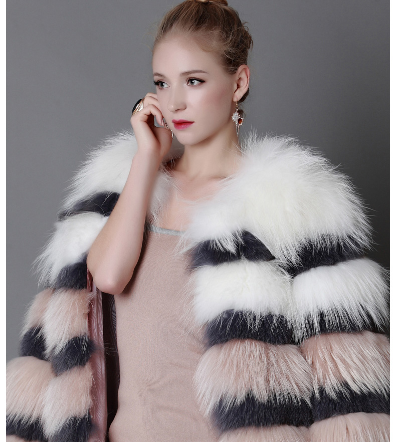 3-4 Length Fox Fur Coat 920 Details 2