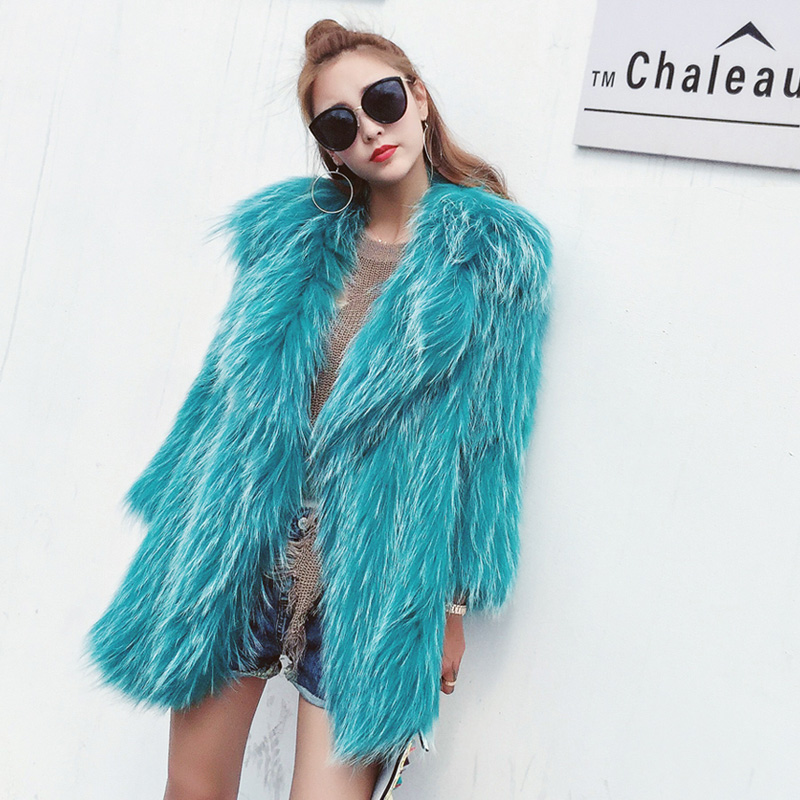 Knitted Raccoon Fur Jacket 931 Details 1