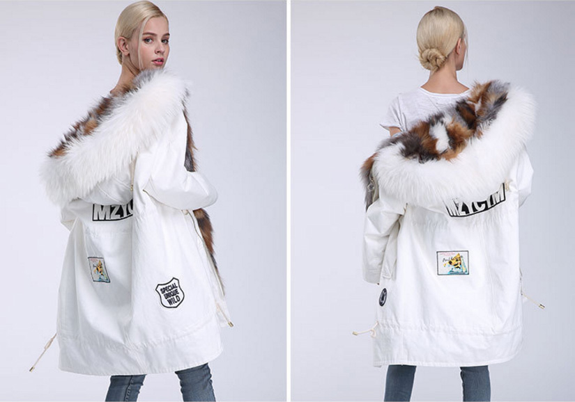 Raccoon Fur Trimmed Hooded Parka with Detachable Down-filled Liner 934 Details 14