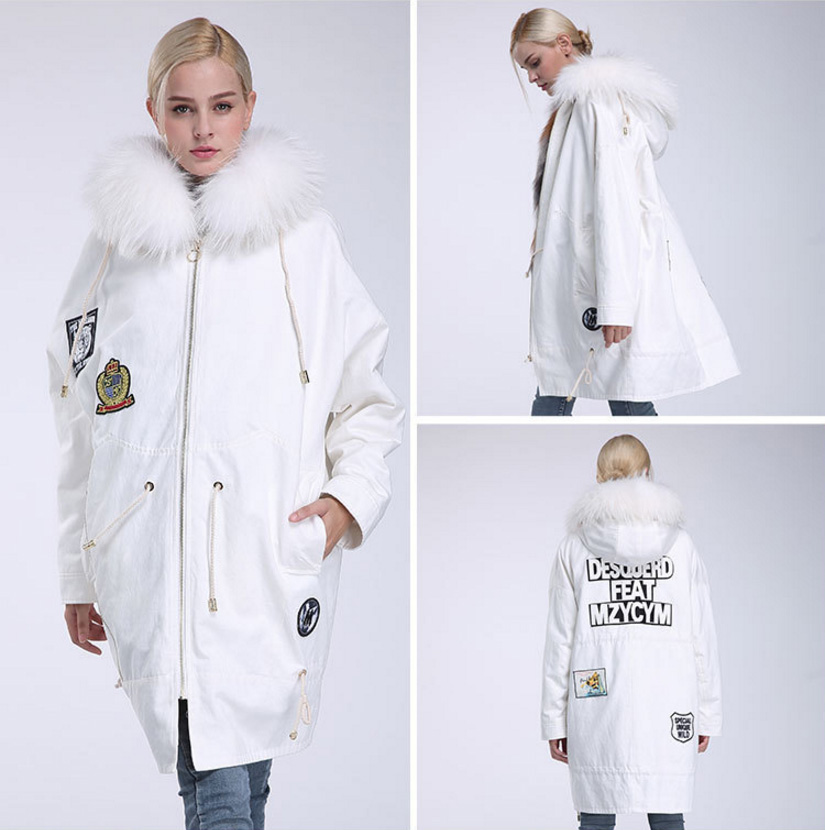 Raccoon Fur Trimmed Hooded Parka with Detachable Down-filled Liner 934 Details 15