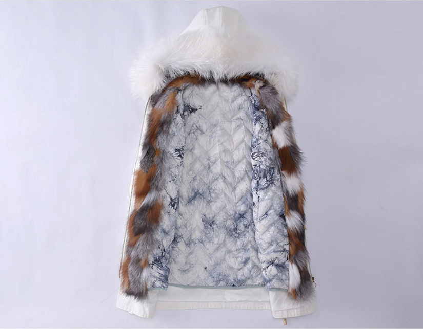 Raccoon Fur Trimmed Hooded Parka with Detachable Down-filled Liner 934 Details 6