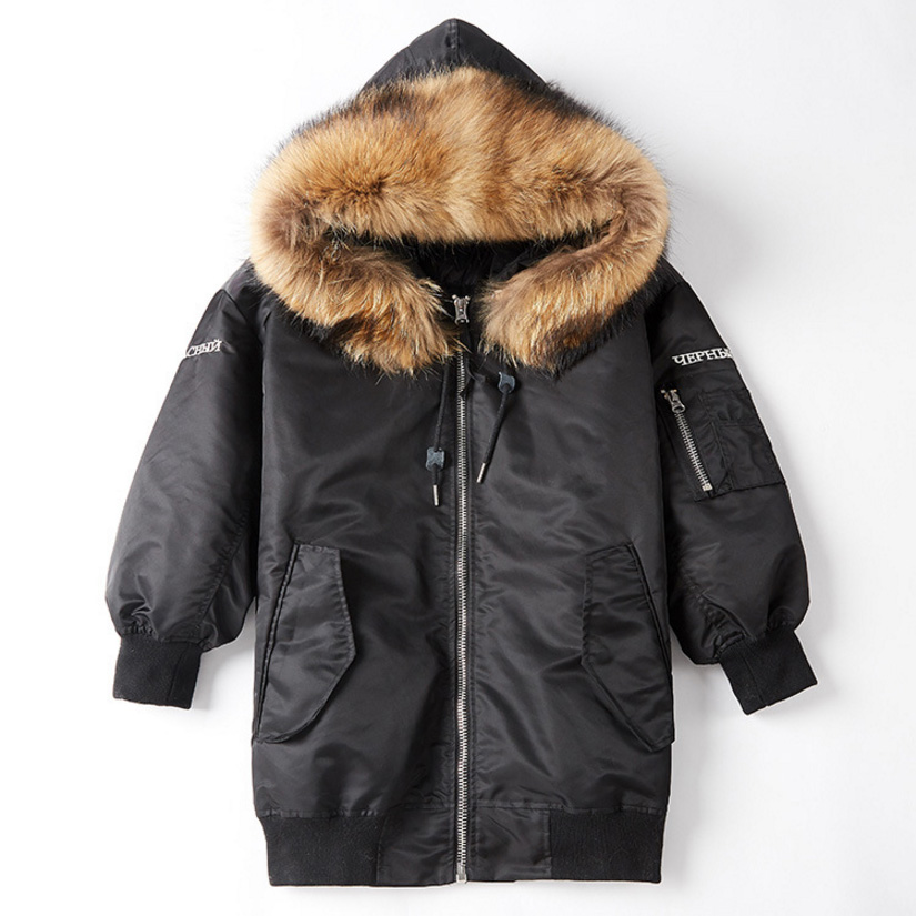 Raccoon Fur Trimming Hooded Parka with Detachable Down-filled Liner 936 Details 11