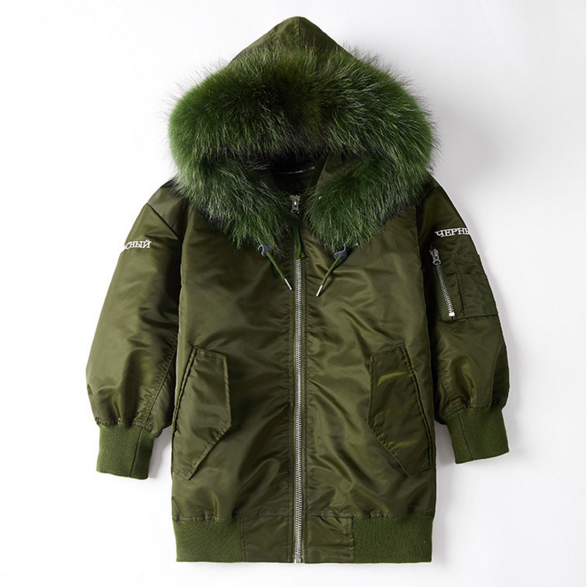 Raccoon Fur Trimming Hooded Parka with Detachable Down-filled Liner 936 Details 14