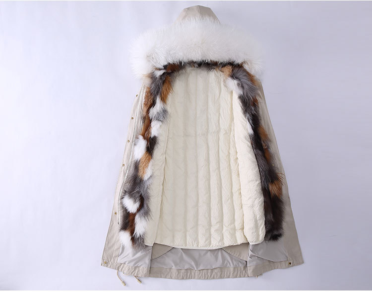 Fox Fur Trimmed Hooded Parka with Detachable Down-filled Liner 840 Details 2