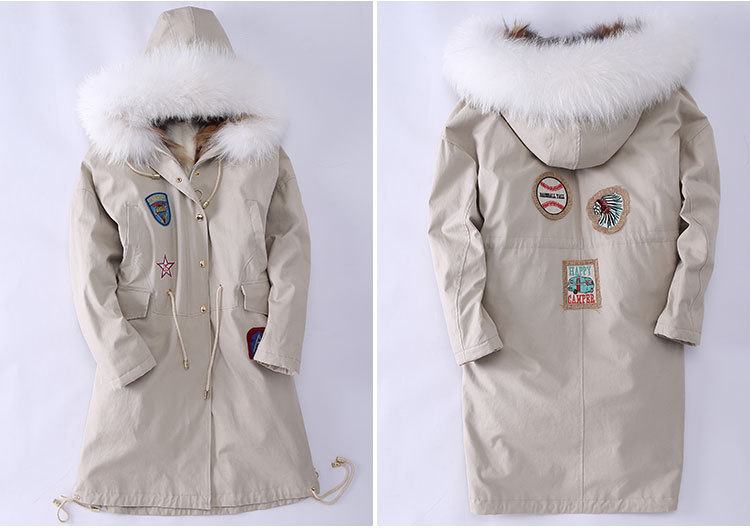 Fox Fur Trimmed Hooded Parka with Detachable Down-filled Liner 840 Details 3