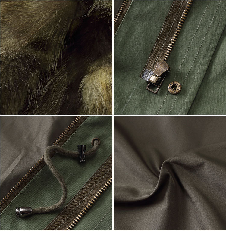 Raccoon Fur Trimming Hooded Parka with Detachable Coyote Fur Liner 949 Details 5