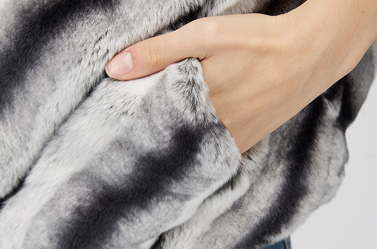 Batwing Rex Rabbit Fur Jacket 953 Details 12