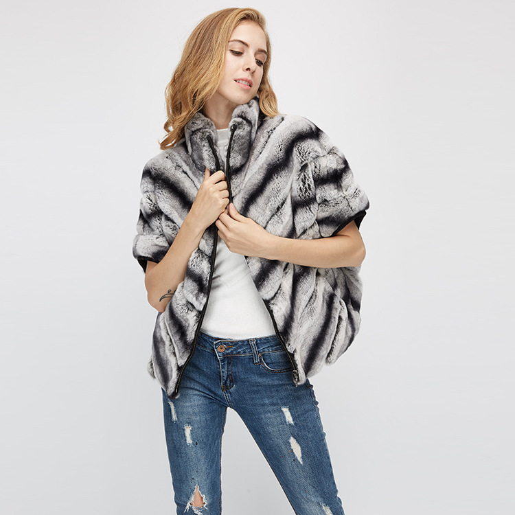 Batwing Rex Rabbit Fur Jacket 953 Details 5