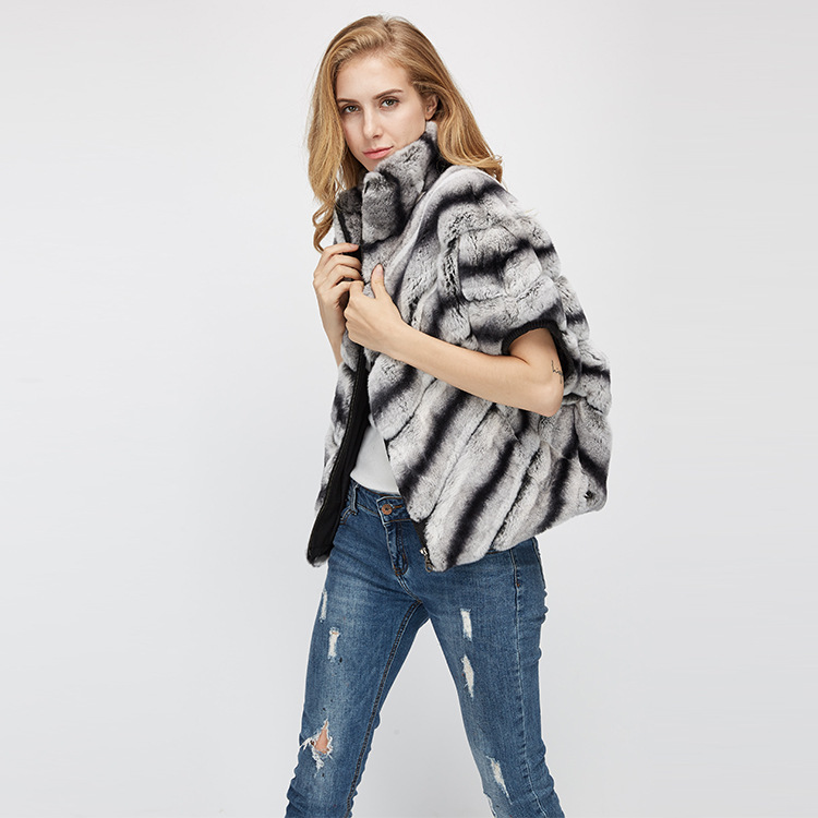 Batwing Rex Rabbit Fur Jacket 953 Details 6