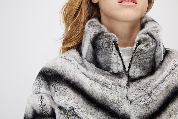 Batwing Rex Rabbit Fur Jacket 953 Details 9