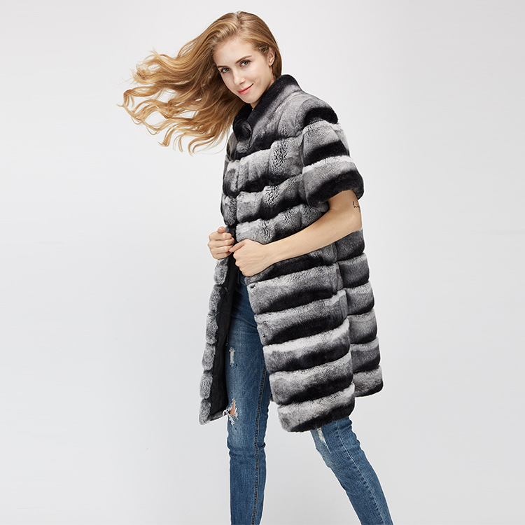 Rex Rabbit Fur Jacket with Detachable Sleeves 954 Details 10