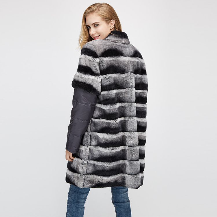 Rex Rabbit Fur Jacket with Detachable Sleeves 954 Details 11