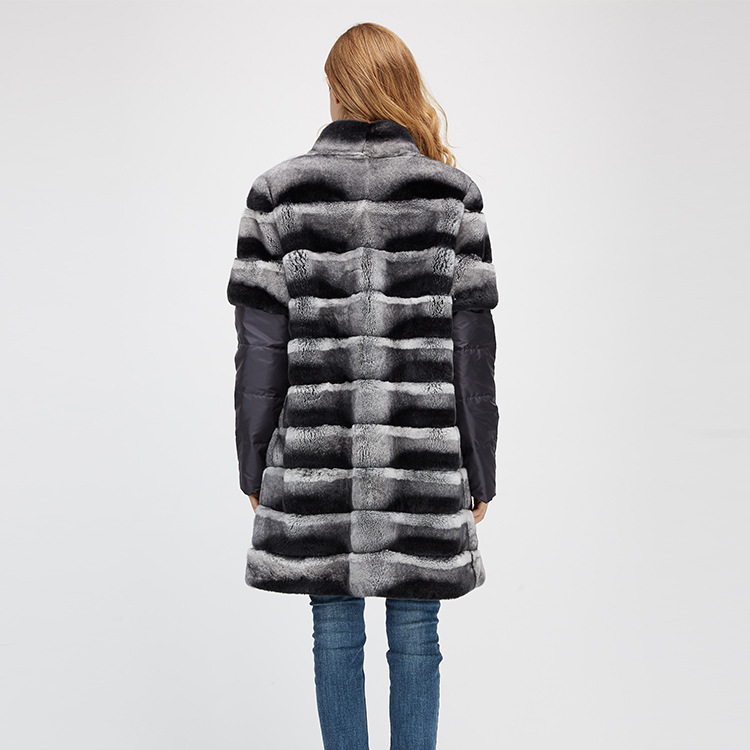 Rex Rabbit Fur Jacket with Detachable Sleeves 954 Details 12