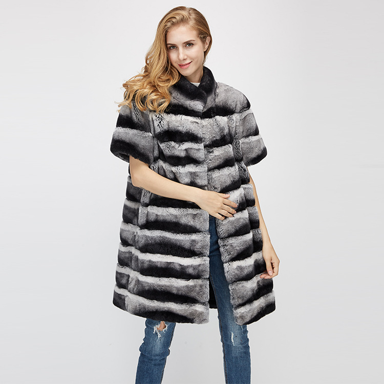 Rex Rabbit Fur Jacket with Detachable Sleeves 954 Details 9