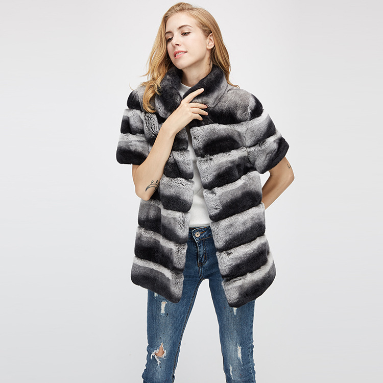 Rex Rabbit Fur Jacket with Detachable Sleeves 955 Details 10