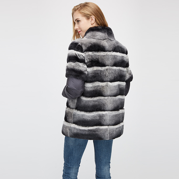 Rex Rabbit Fur Jacket with Detachable Sleeves 955 Details 12