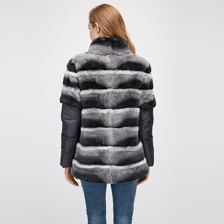 Rex Rabbit Fur Jacket with Detachable Sleeves 955 Details 13