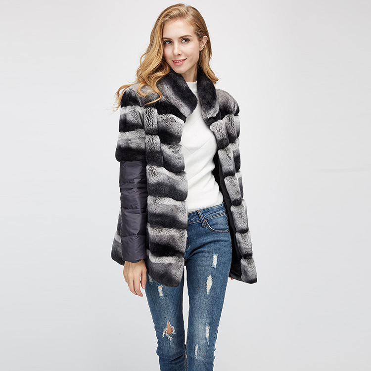 Rex Rabbit Fur Jacket with Detachable Sleeves 955 Details 4