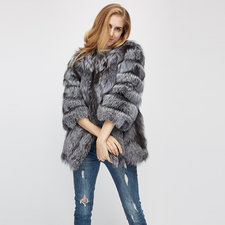 Fox Fur Coat 967 Details 12