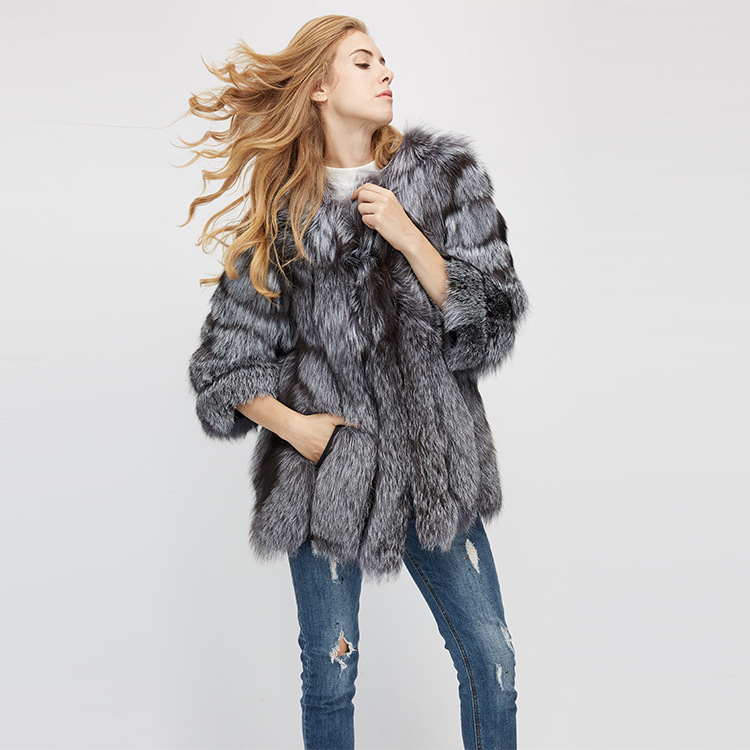 Fox Fur Coat 967 Details 13