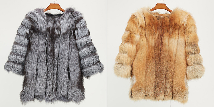 Fox Fur Coat 967 Details 2