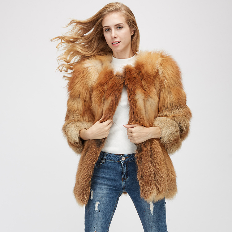 Fox Fur Coat 967 Details 3
