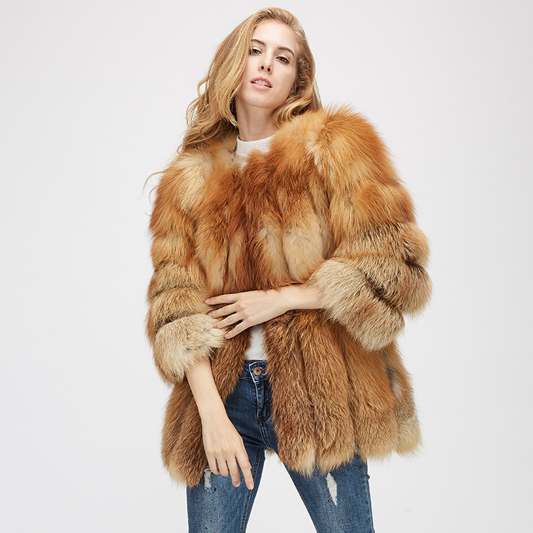 Fox Fur Coat 967 Details 4