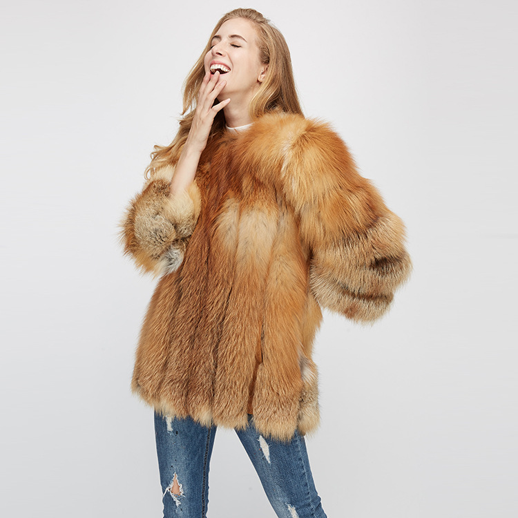 Fox Fur Coat 967 Details 6