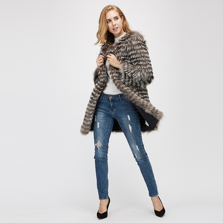 Silver Fox Fur Jacket 970 Details 1