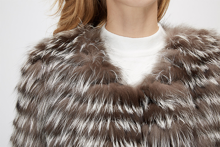 Silver Fox Fur Jacket 970 Details 10