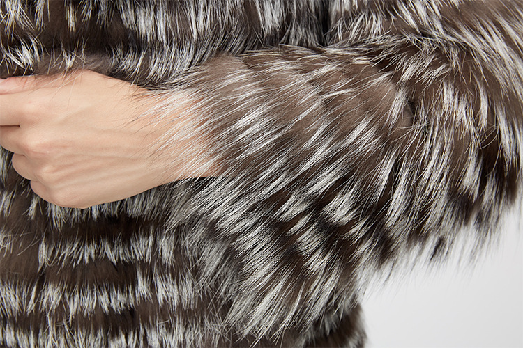 Silver Fox Fur Jacket 970 Details 11