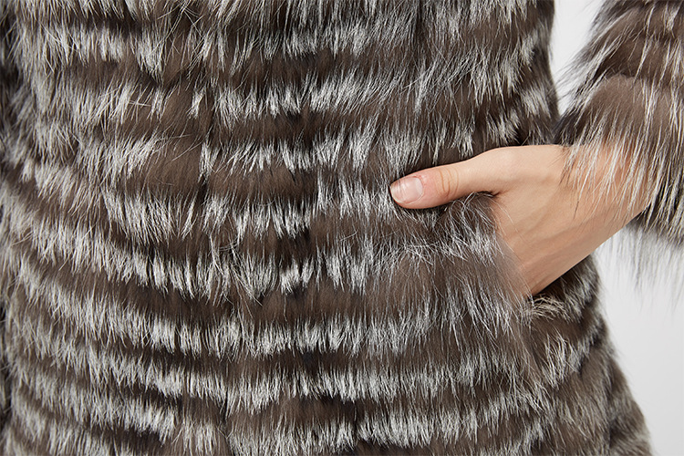 Silver Fox Fur Jacket 970 Details 12