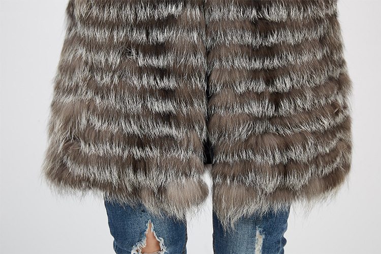Silver Fox Fur Jacket 970 Details 13