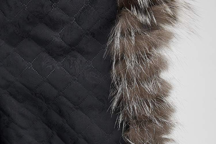 Silver Fox Fur Jacket 970 Details 14