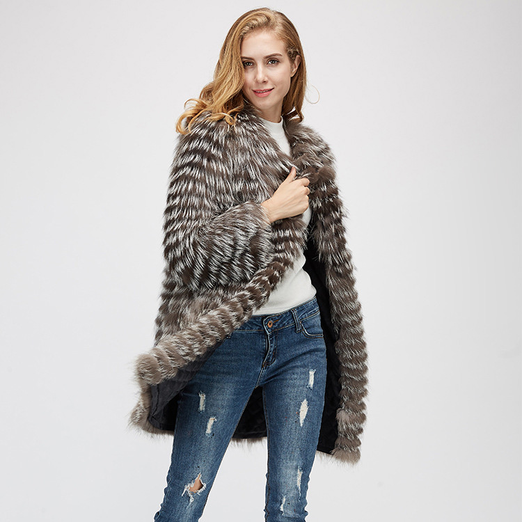 Silver Fox Fur Jacket 970 Details 2