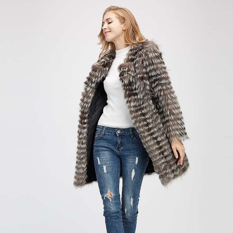 Silver Fox Fur Jacket 970 Details 3
