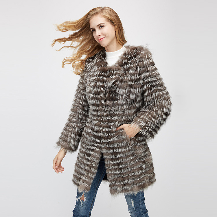 Silver Fox Fur Jacket 970 Details 4