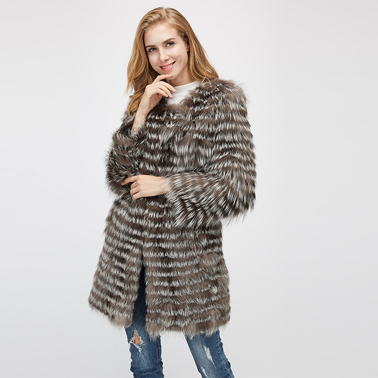 Silver Fox Fur Jacket 970 Details 6