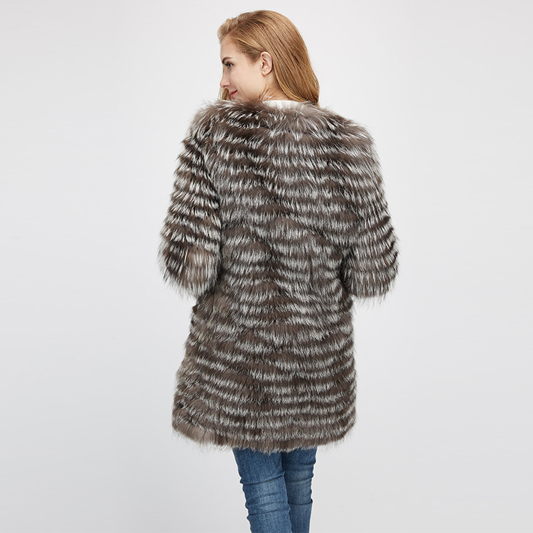 Silver Fox Fur Jacket 970 Details 8