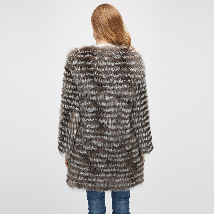 Silver Fox Fur Jacket 970 Details 9