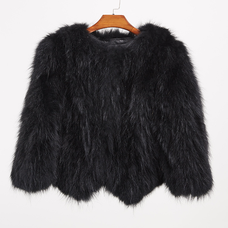 Cropped Raccoon Fur Jacket 972 Details 12