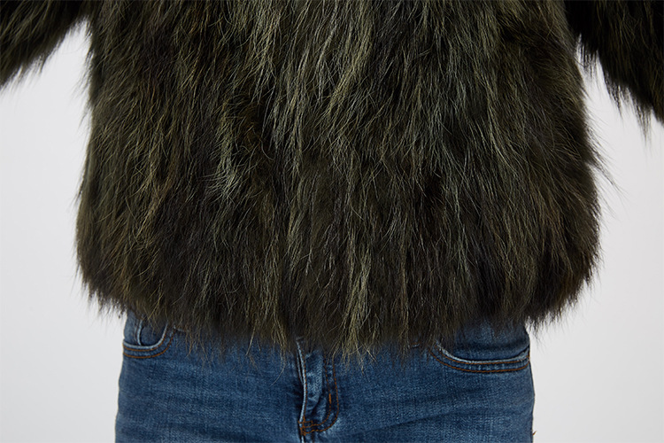 Cropped Raccoon Fur Jacket 972 Details 16